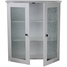 Amazoncom Elegant Home Fashions Rain Collection Wall Cabinet - Glass door kitchen wall cabinet