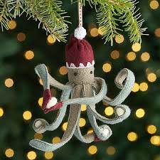 octopus ornament with snowballs crate and barrel
