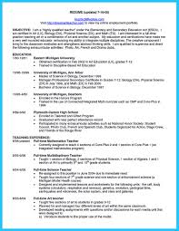 Health Education Resume Physical Science Teacher Resume Template