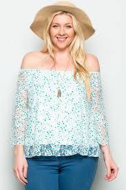 mint blouse plus size mint floral shoulder lace blouse my yuccie