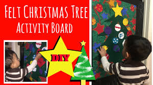 felt christmas tree activity board for kids easy diy youtube