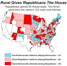 House District Map Daily Yonder Blog Republicans Win Rural And The House Rcap