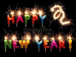 candele scintillanti candele scintillanti festive di nuovo anno felice fotografia stock