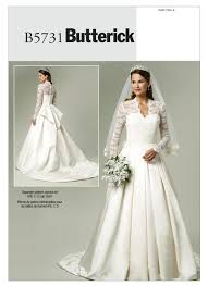 wedding dress pattern b5731 butterick patterns