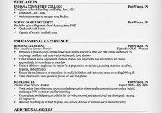 Food Service Resume Sample by Stupefying Examples Of A Resume 9 Free Resume Samples Writing