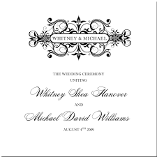 vintage wedding programs vintage monogram wedding programs wedding ceremony programs church