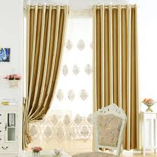 Gold Color Curtains Modern Office Curtains In Gold Color For Blackout Purpose