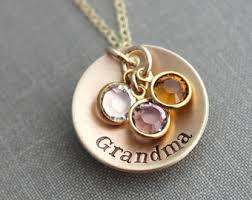 grandmother birthstone necklace necklace etsy