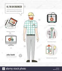 Resume Vector Professional Mechanical Engineer Infographic Skills Resume With