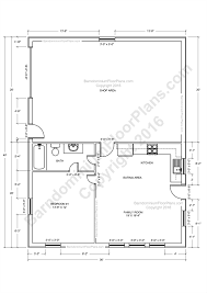 Plan 3 by Barndominium Floor Plans For Planning Your Barndominium