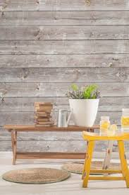Aged Grey Planks Wall Mural Wallpaper Woods And Bedrooms - Living room wallpaper design