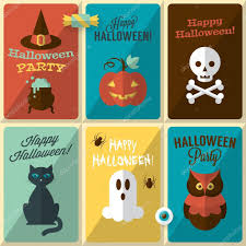 halloween greeting cards modern greeting cards for halloween u2014 stock vector maglara 55129389