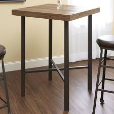industrial style pub table pub table with two stools black walnut and iron pipe industrial