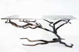 Glass Sofa Table Glass And Metal Coffee Table Forged Sofa Table Blacksmiths
