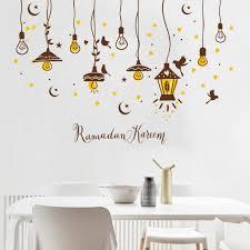 shine light bulb wall sticker living room bedroom kitchen decor