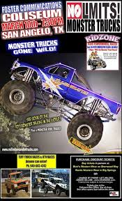 monster truck show ticket prices no limits monster trucks and kid zone san angelo