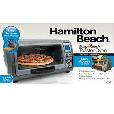Best Toaster Oven For Toast Hamilton Beach 6 Slice Easy Reach Toaster Oven 31128