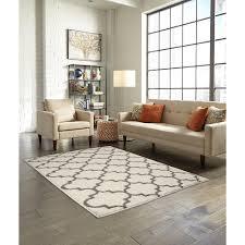 trellis 2 color shag cream area rug maples rugs