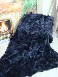 Fox Fur Blanket Pelzdecken Discount Blue Fox Fur Blanket