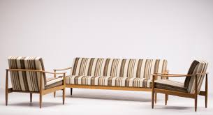 mid century scandinavian living room suite with folding sofa for