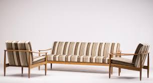 Scandinavian Livingroom Mid Century Scandinavian Living Room Suite With Folding Sofa For