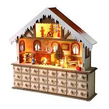 lighted santa s workshop advent calendar lighted santa s workshop advent calendar at what on earth ht6956