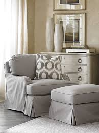 Chair And Ottoman Slipcovers Oyster Bay Stowe Ottoman Slipcover Gray Lexington Home Brands