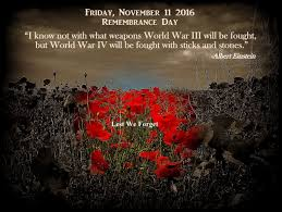friday november 11 2016 remembrance day a personal message