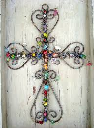 large 15 inch beaded iron cross decorate and update my walls