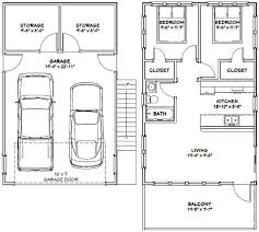 garage floor plans with apartments 20x32 tiny house 20x32h7k 808 sq ft excellent floor plans