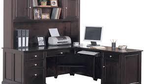 desk corner white computer desk with hutch for office space