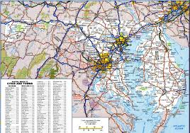 Monorail Las Vegas Map by Road Map Of Maryland And Virginia Virginia Map