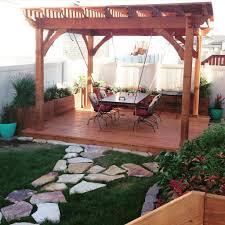 Cedar Landscape Timbers by Awe Douglas Fir Pergola Planters Deck U0026 Suspension Table