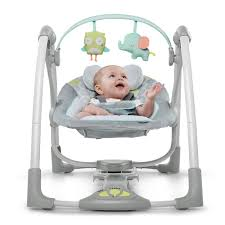 portable baby swing with lights ingenuity swing n go portable baby swings hugs hoots