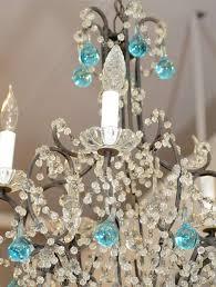 blue crystal chandelier light vintage french crystal chandelier with blue accents at 1stdibs
