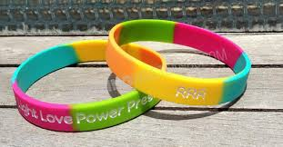 power wristband bracelet images Robin roberts wristbands with light love power presence message jpg