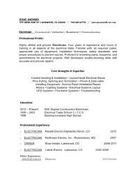 Free Printable Resume Template Free Printable Resume Or Cv Template For Industrial Electrician