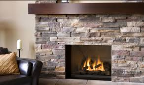 great stone fireplace on interior with stone fireplace as a modern