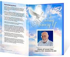 Funeral Pamphlet Ideas Memorial Program Free Funeral Program Templates On The Download