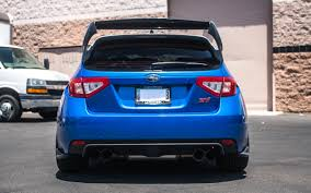 blue subaru hatchback how to install the carbon fiber rally wing on subaru hatchback wrx