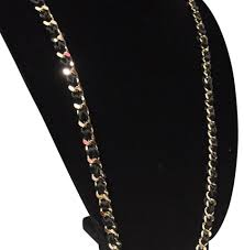 cara couture cära couture jewelry black cra ny chain ribbon necklace tradesy