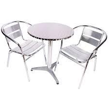Aluminium Bistro Chairs Bistro Garden Furniture Cafe Style 3 Aluminium Set
