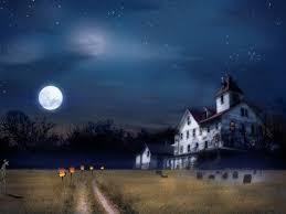 scary halloween screensavers animated haunted house desktop wallpaper wallpapersafari