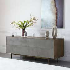 Credenza Tables Reclaimed Wood Lacquer Buffet West Elm