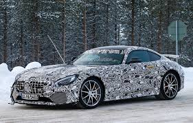 mercedes shares 2017 mercedes amg gt r shares more skin during winter testing