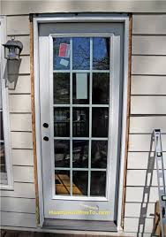 Exterior Door Threshold Replacement by How To Replace An Exterior Door Part 3