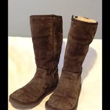 womens ugg boots size 8 ugg ugg f30081 chocolate brown zip boots size 8 from