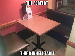 3rd Wheel Meme - third wheel dinner table meme by trej memedroid