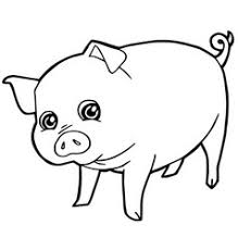 pig with paw print coloring page royalty free vector image