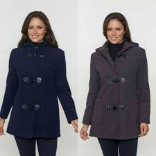 womens short duffle coat